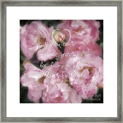 Gravity - Quote Framed Print