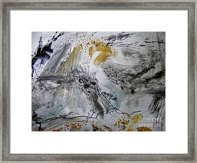 Gray And Gold Framed Print by Nancy Kane Chapman