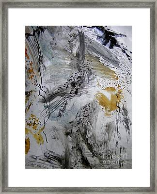 Gray And Gold Upended Framed Print by Nancy Kane Chapman
