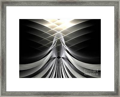 Gray Angel Framed Print by Kim Sy Ok