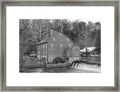 Gray Autumn At The Old Mill In Clinton Framed Print