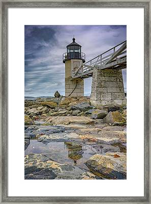Gray Day At Marshall Point Framed Print