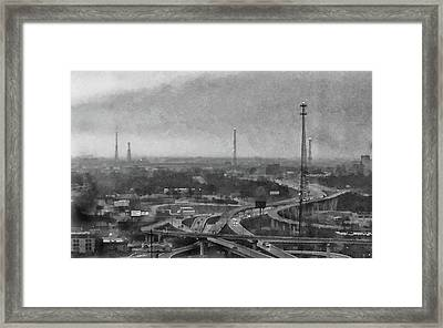 Gray Day In The City Framed Print