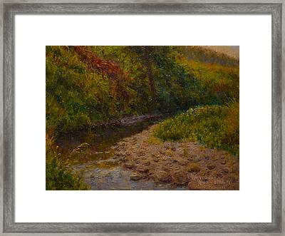 Gray Day Plein Air Framed Print