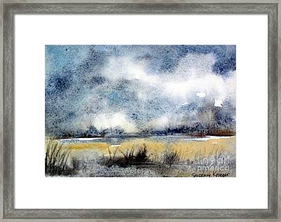 Gray Day Framed Print by Suzanne Krueger