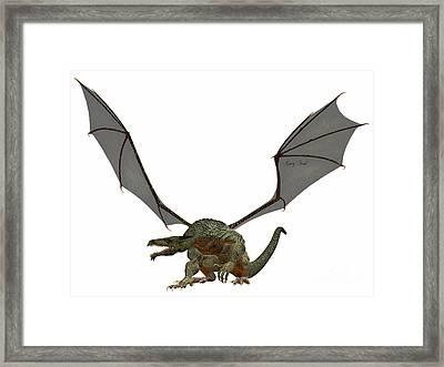 Gray Dragon Framed Print by Corey Ford