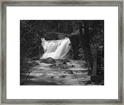 Gray Eagle Falls Framed Print