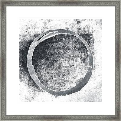Gray Enso Framed Print