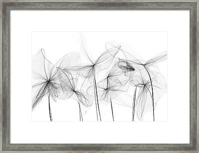 Grayish Spring - Modern Art Framed Print