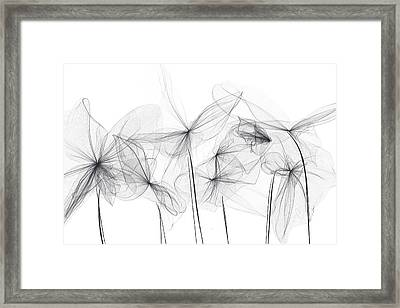 Grayish Spring - Modern Art Framed Print by Lourry Legarde