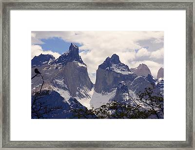 Gray Glacier Chile Framed Print by Charles  Ridgway
