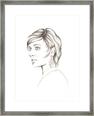 Gray Lady Framed Print by Samantha Burns