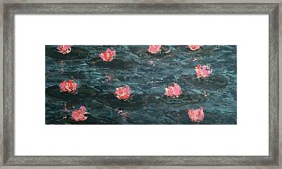 Gray Lake Framed Print by Arturo Arboleda