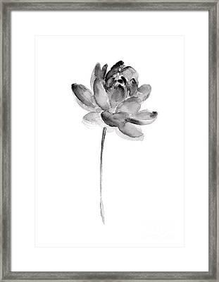 Gray Lotos Drawing Framed Print