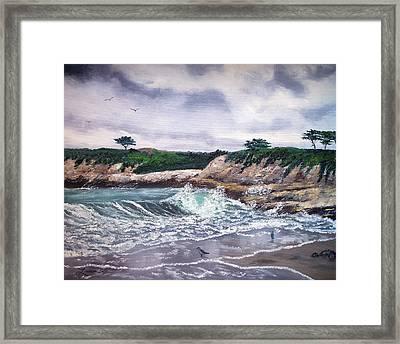 Gray Morning At Santa Cruz Framed Print by Laura Iverson