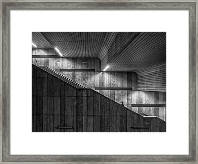 Gray On Gray Framed Print by Klaus Lenzen