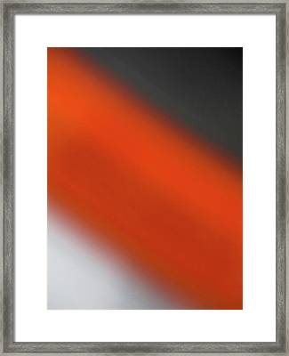 Gray Orange Grey Framed Print