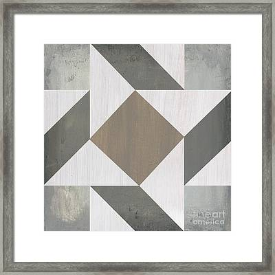 Framed Print featuring the painting Gray Quilt by Debbie DeWitt