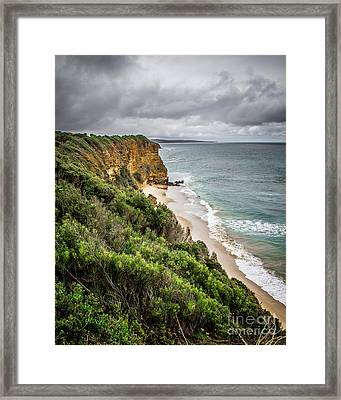 Framed Print featuring the photograph Gray Skies by Perry Webster
