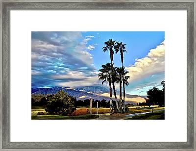 Gray Sky Blue Sky Framed Print