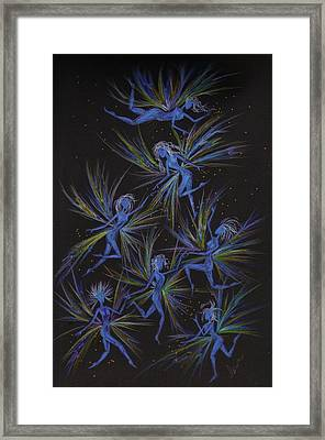 Framed Print featuring the drawing Gray Sky Warm Up by Dawn Fairies
