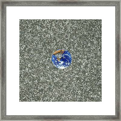 Gray Space Framed Print