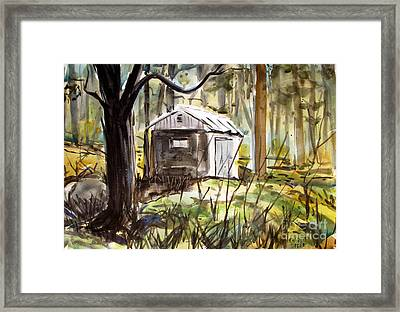 Gray Sponge Hiding Places Framed Print by Charlie Spear