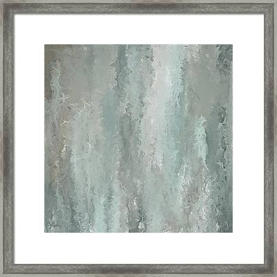 Grayish Blue Abstract Art Framed Print by Lourry Legarde