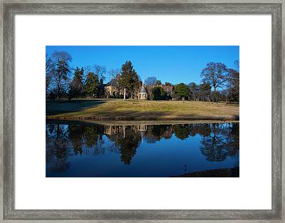 Graylyn House In Reflection Framed Print