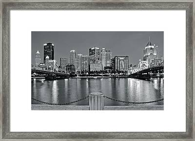 Grayscale By The River 2017 Framed Print