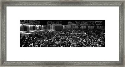 Grayscale Panoramic View Of Chicago Framed Print by Panoramic Images