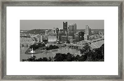 Grayscale Pittsburgh Framed Print by Frozen in Time Fine Art Photography