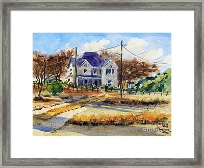 Grayson County Farmhouse Framed Print by Ron Stephens