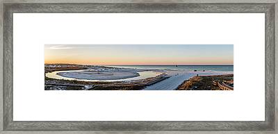 Grayton Beach Dawn Panorama Framed Print