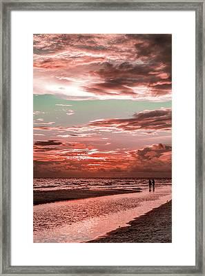 Grayton Red Sunset Framed Print