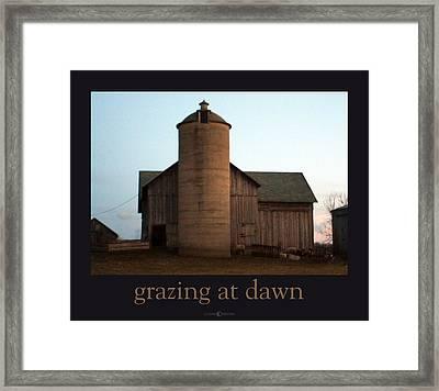 Grazing At Dawn Framed Print