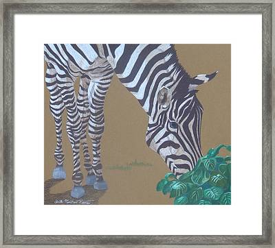 Grazing At The Salad Bar Framed Print