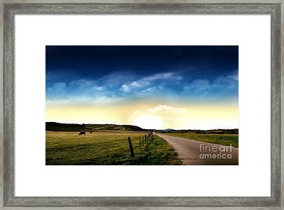 Grazing Time Framed Print by Rod Jellison