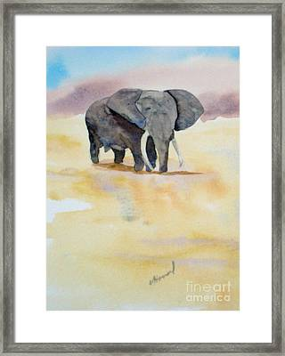 Framed Print featuring the painting Great African Elephant  by Vicki  Housel
