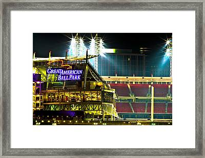 Great American Ballpark Framed Print by Keith Allen