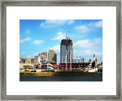Great American Tower Under Construction Framed Print