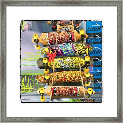 Great Art On These Skateboards! Framed Print