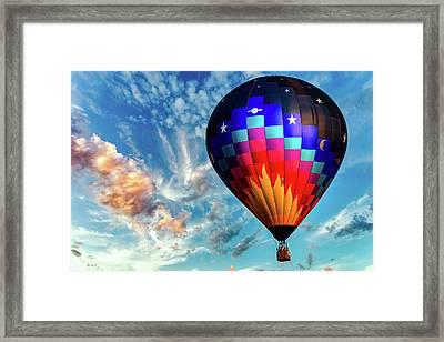 Great Balls Of Fire Hot Air Balloon Framed Print by Bob Orsillo