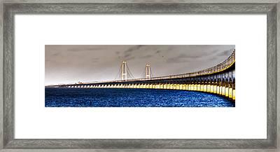 Great Belt Bridge Framed Print by Gert Lavsen