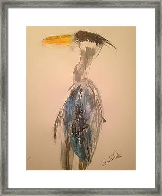 Great Blue Framed Print by Christina Pateros