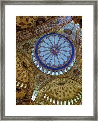 Great Blue Dome Framed Print