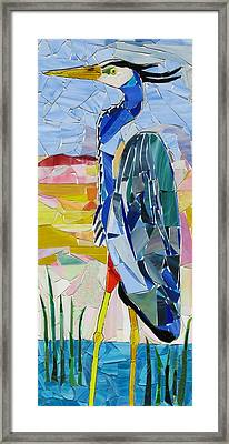 Great Blue Heron 1 Framed Print by Charles McDonell