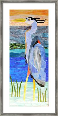 Great Blue Heron 2 Framed Print by Charles McDonell