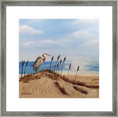 Great Blue Heron - Outer Banks Framed Print