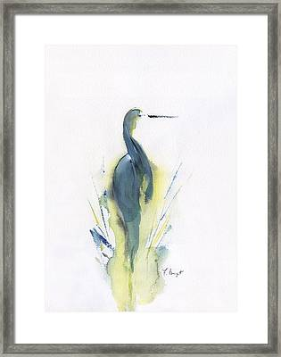 Blue Heron Turning Framed Print